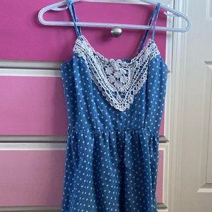4/25 Rue 21 blue polka dot summer dress